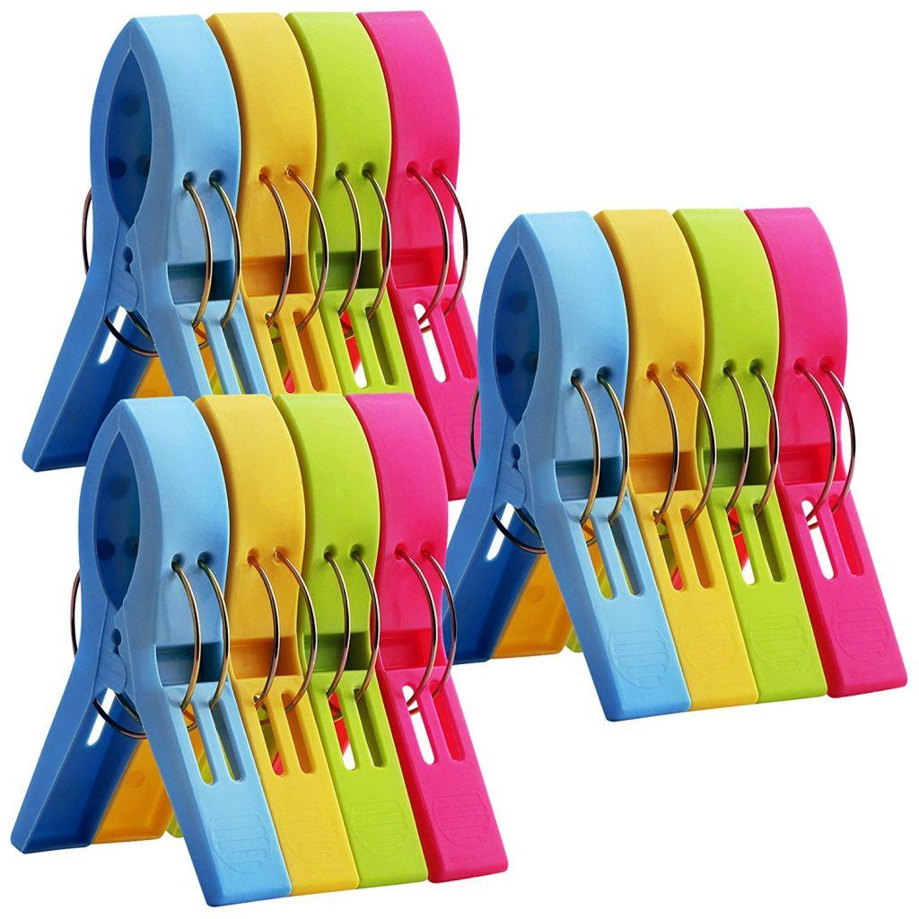 Colorful towel clips