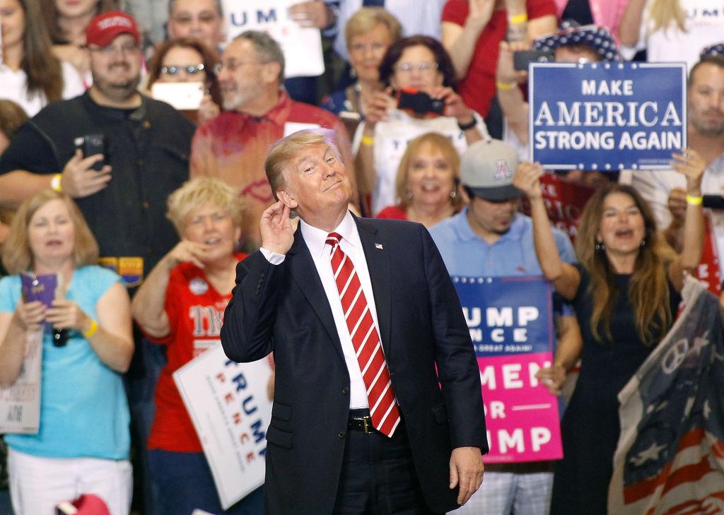 A Trump rally in Phoenix, Arizona
