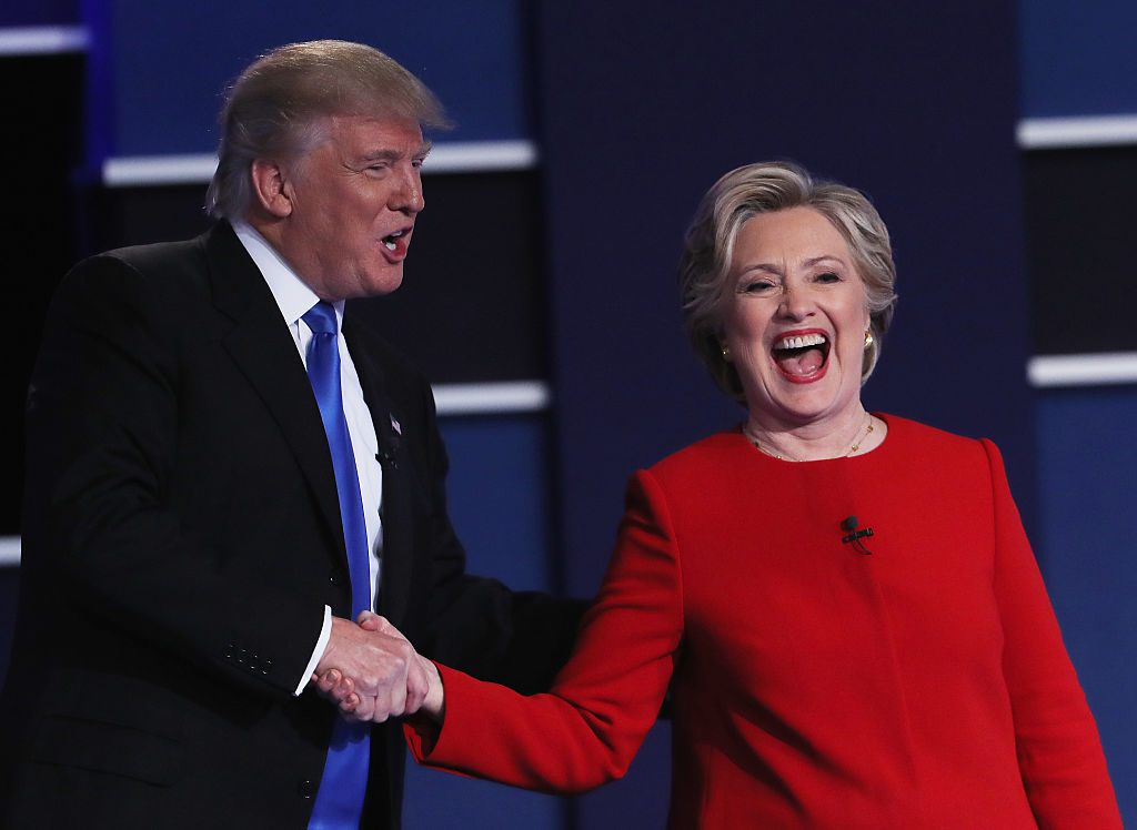 Donald Trump and Hillary Clinton at debate