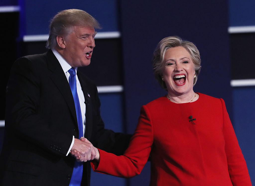 Donald Trump and Hillary Clinton at debate