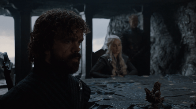 In Dragonstone, Tyrion, Dany and Jorah discuss important matters.