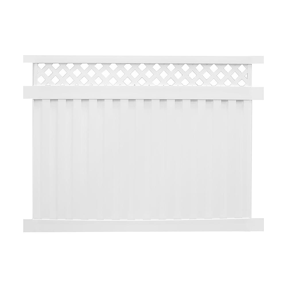 White Vinyl Fence Kit