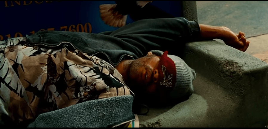 Will Smith lives the opposite of a celebrity lifestyle in the movie Hancock