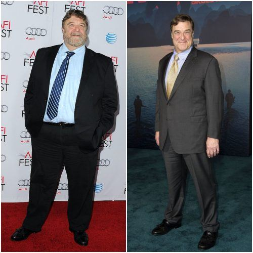 John Goodman before and after having lost weight.