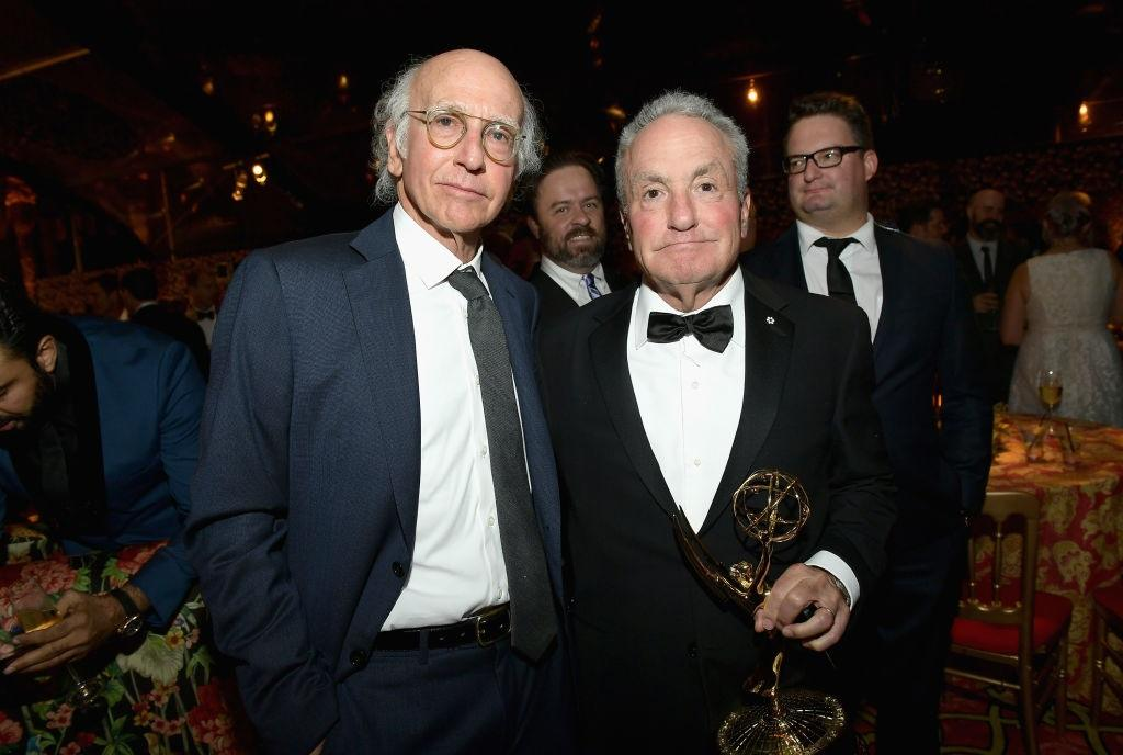 Larry David and Lorne Michaels at HBO's Emmy's After Party