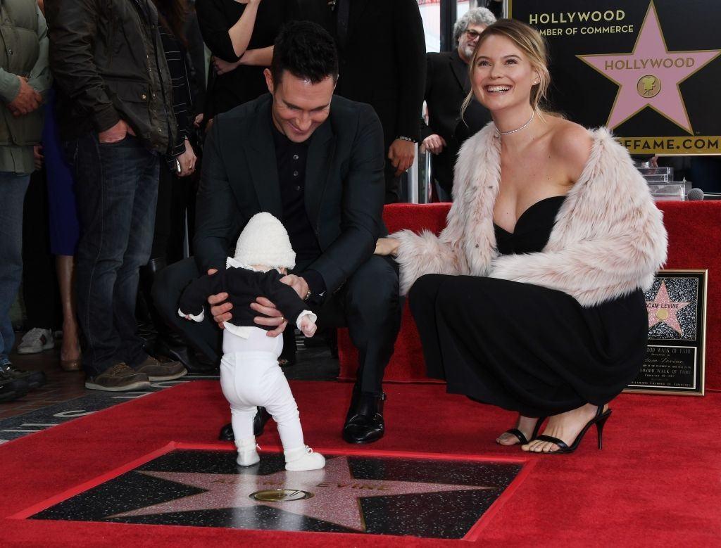 Adam Levine, Behati Prinsloo, and daughter Dusty Rose