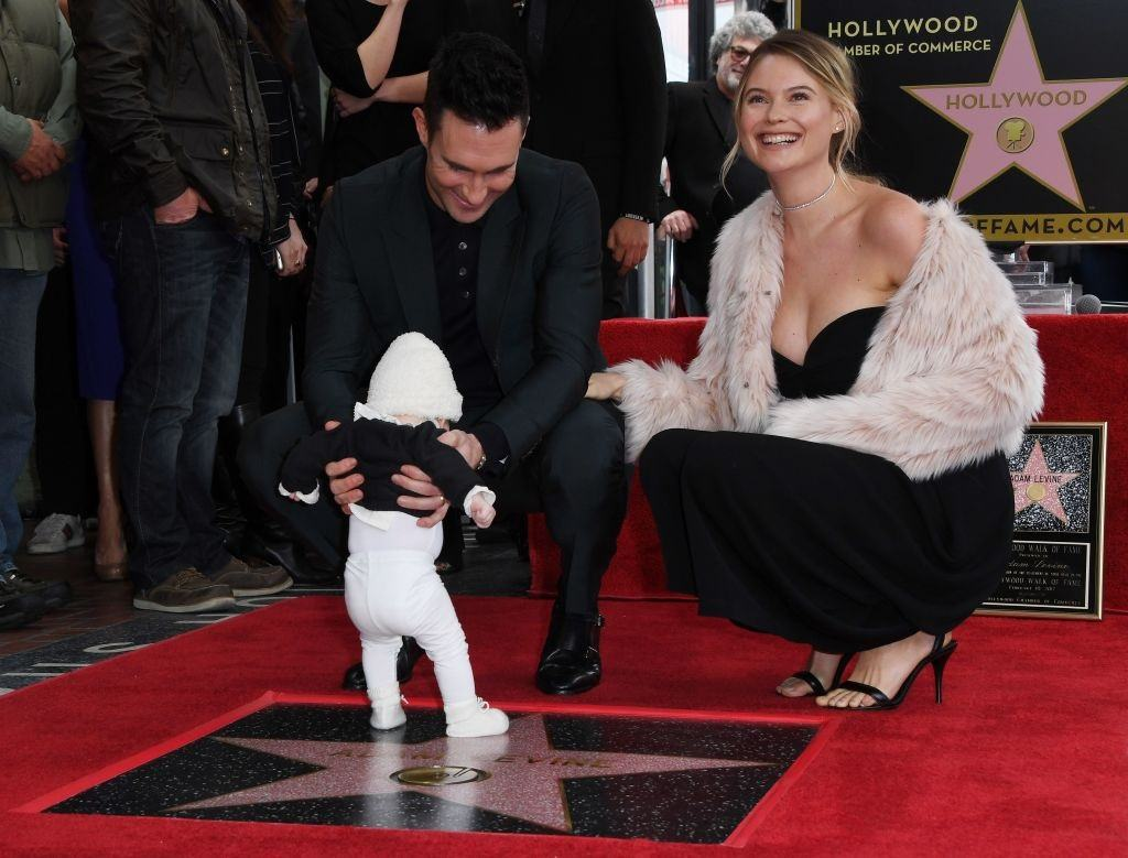 Adam Levine, Behati Prinsloo, and daughter Dusty Rose