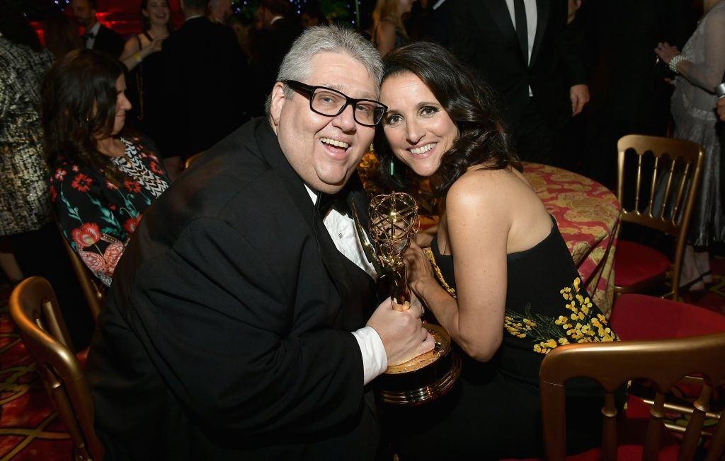 David Mandel and Julia Louis-Dreyfus at HBO's After Party