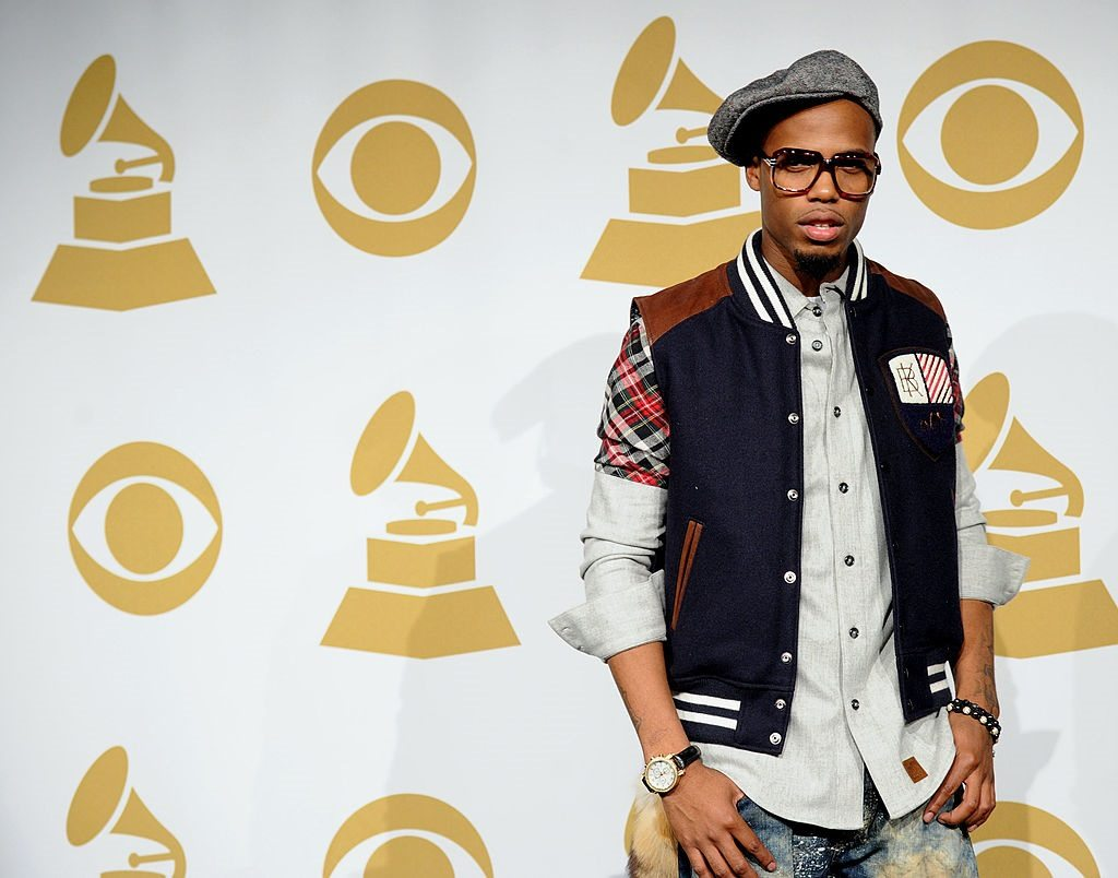 Rapper B.o.B. during the Grammy Nominations Concert