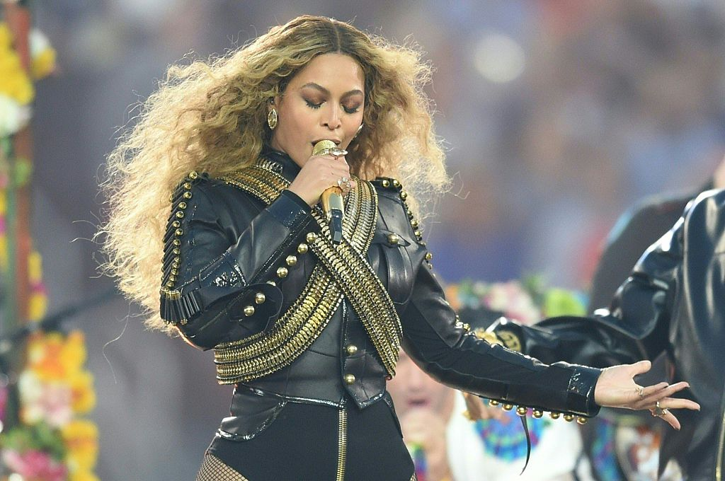 Beyoncé performs during Super Bowl 50 in 2016.