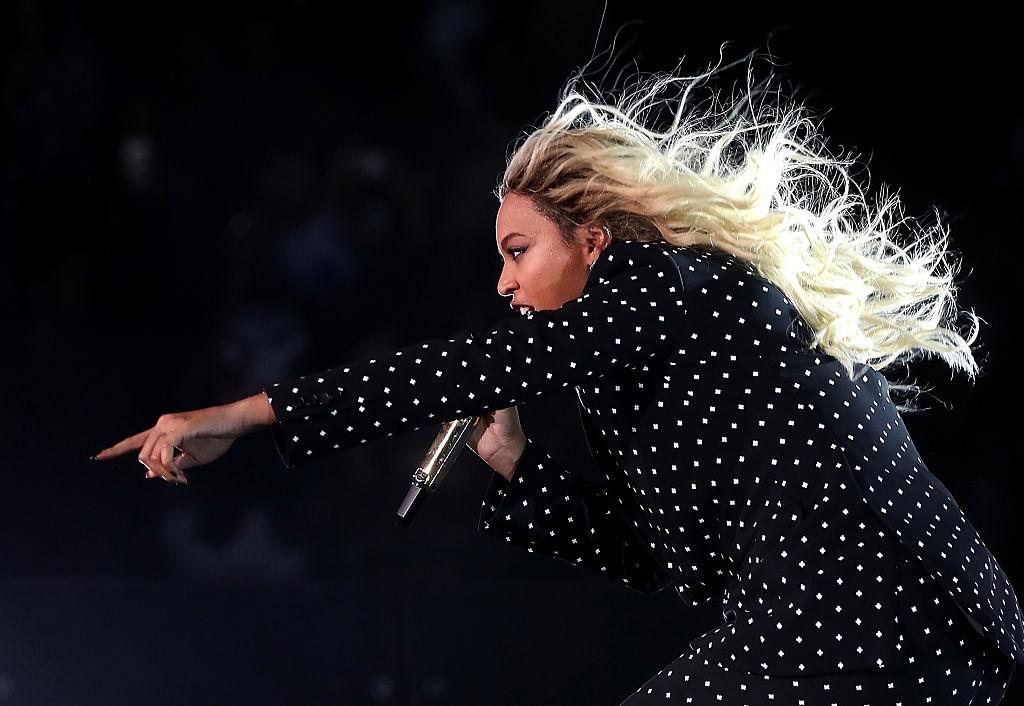 Beyonce performs at a Get Out The Vote Concert