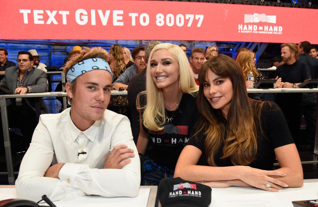 Bieber, Stefani, and Vergara at Hand in Hand