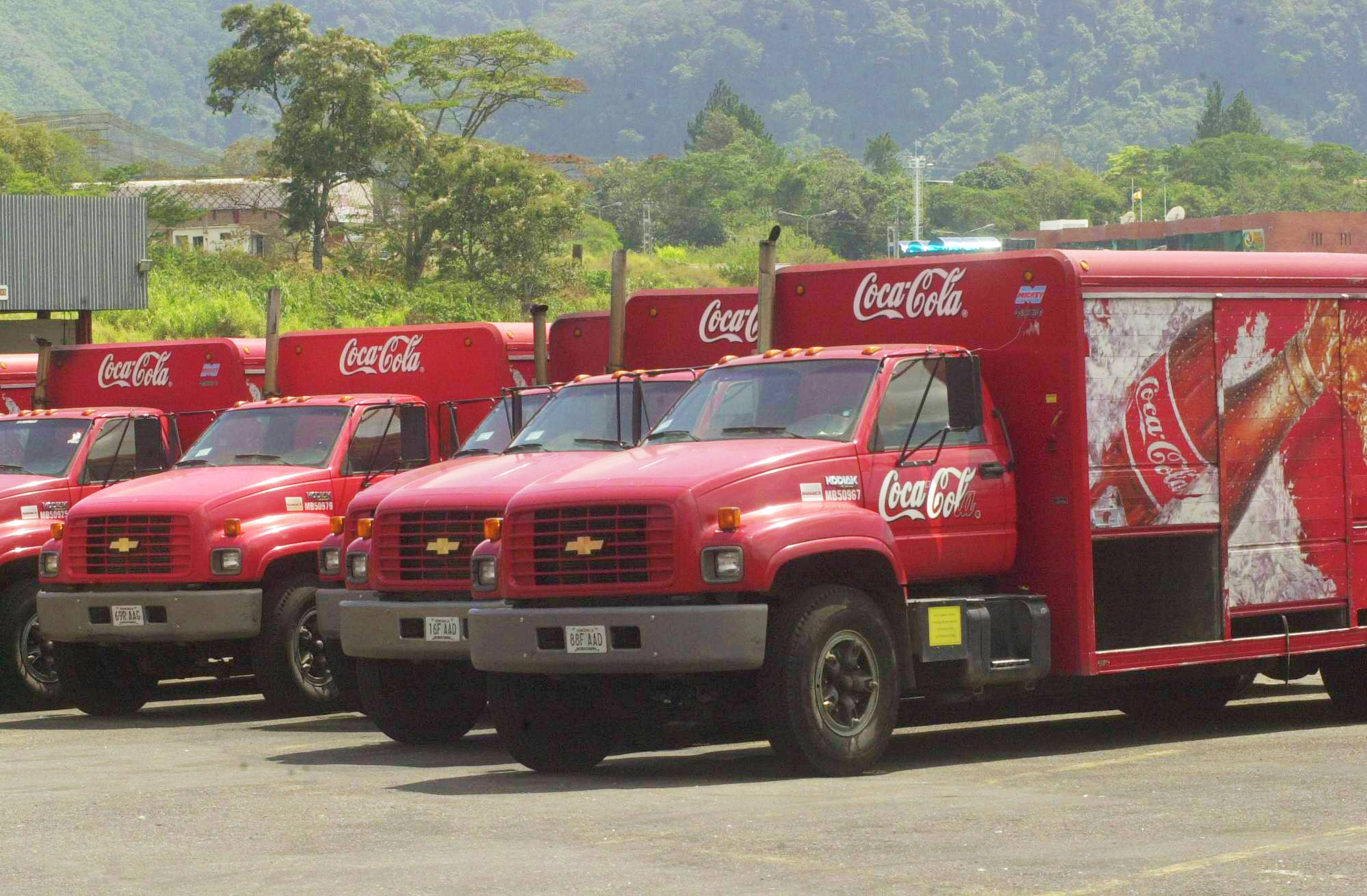 Coca-Cola delivery trucks