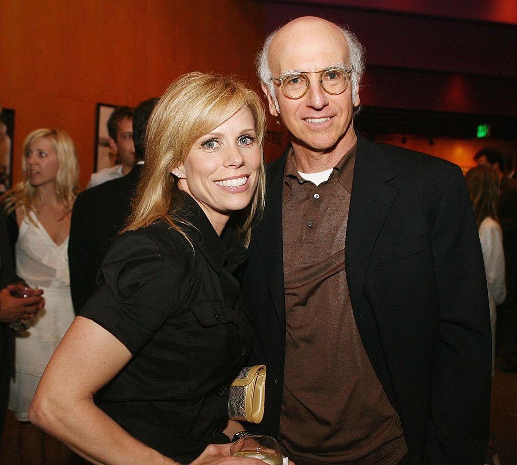 Actors Cheryl Hines and Larry David