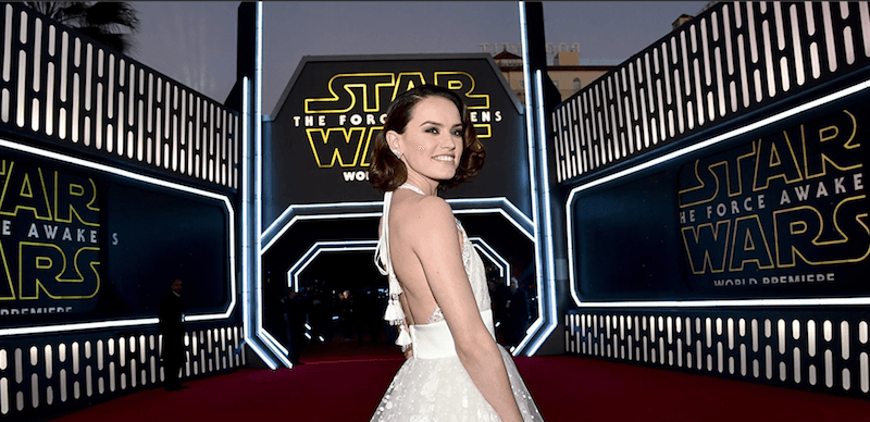 Daisy Ridley at the Star Wars: The Force Awakens premiere