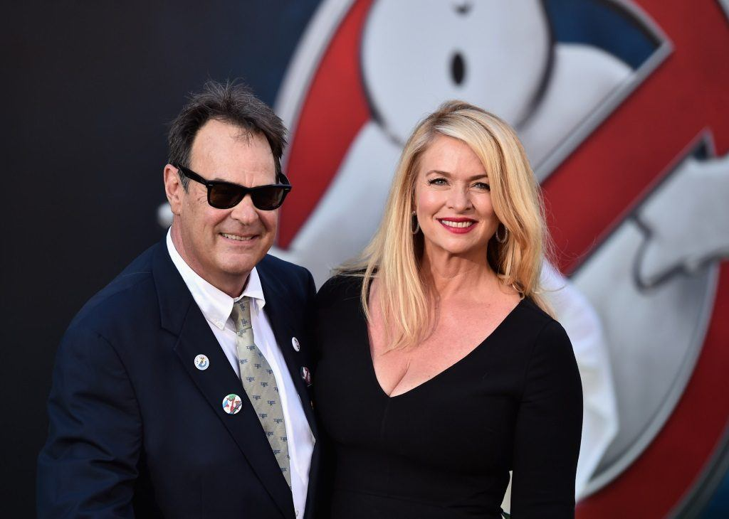 Dan Aykroyd and Donna Dixon on the red carpet.
