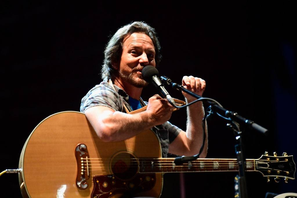 Eddie Vedder performs
