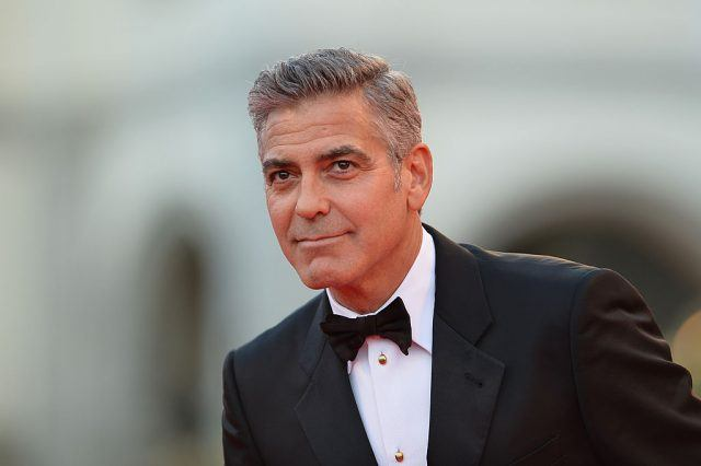 George Clooney arrives for screening of 'Gravity'.