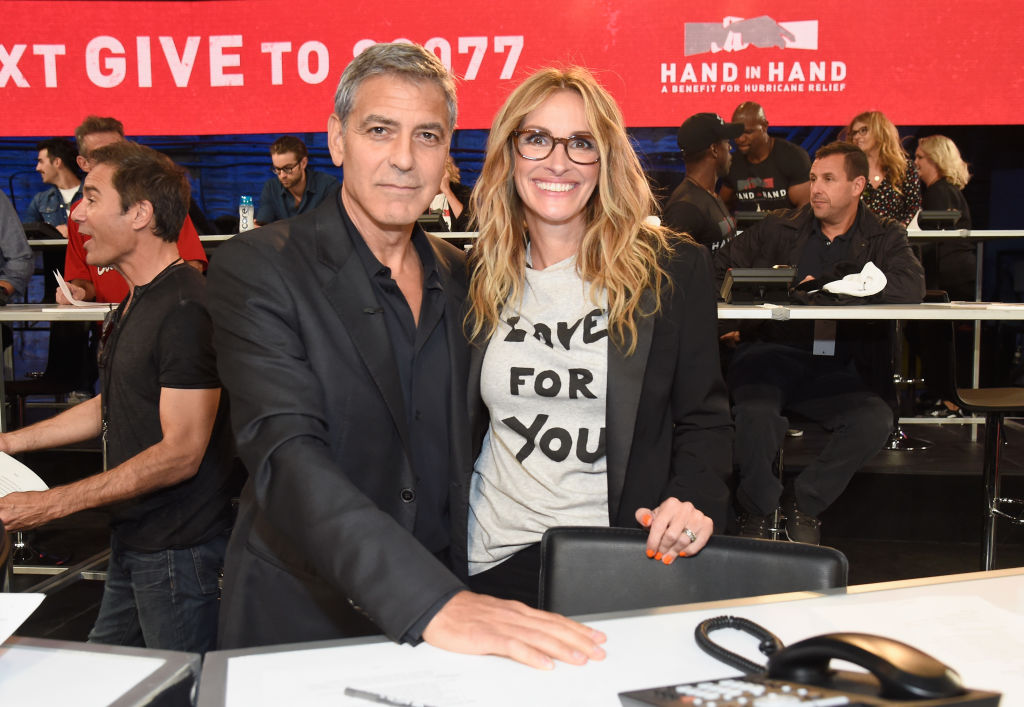 George Clooney and Julia Roberts attend Hand in Hand