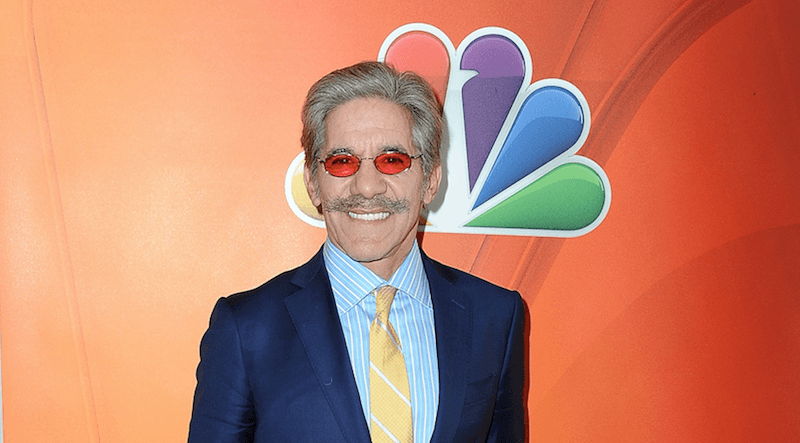 Geraldo Rivera posing at an NBC event