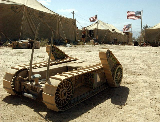 """A small prototype military reconnaissance robot named """"Fester"""""""