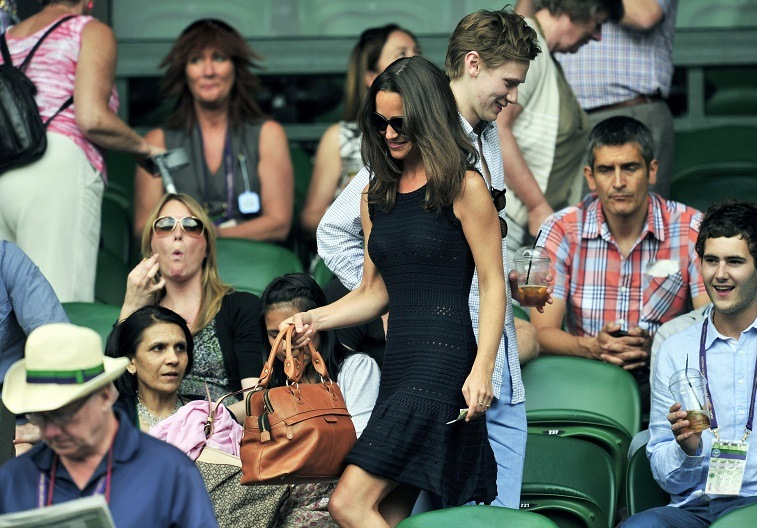 Pippa Middleton at the Wimbledon Tennis Championships on July 1, 2011.