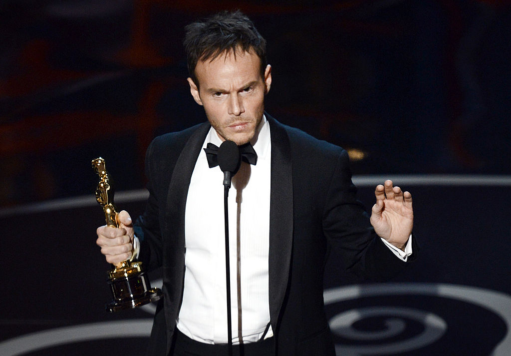 Chris Terrio accepts his Academy Award in 2013