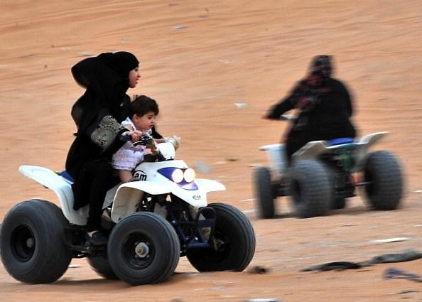 Saudi girl driving an ATV