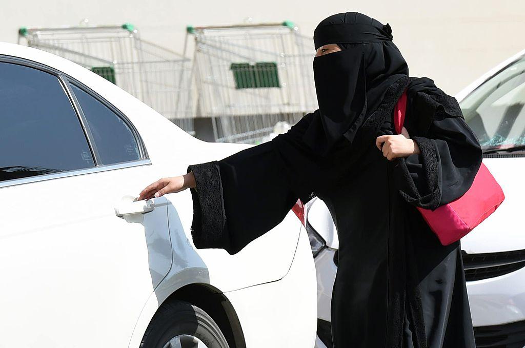 A Saudi Woman and taxi