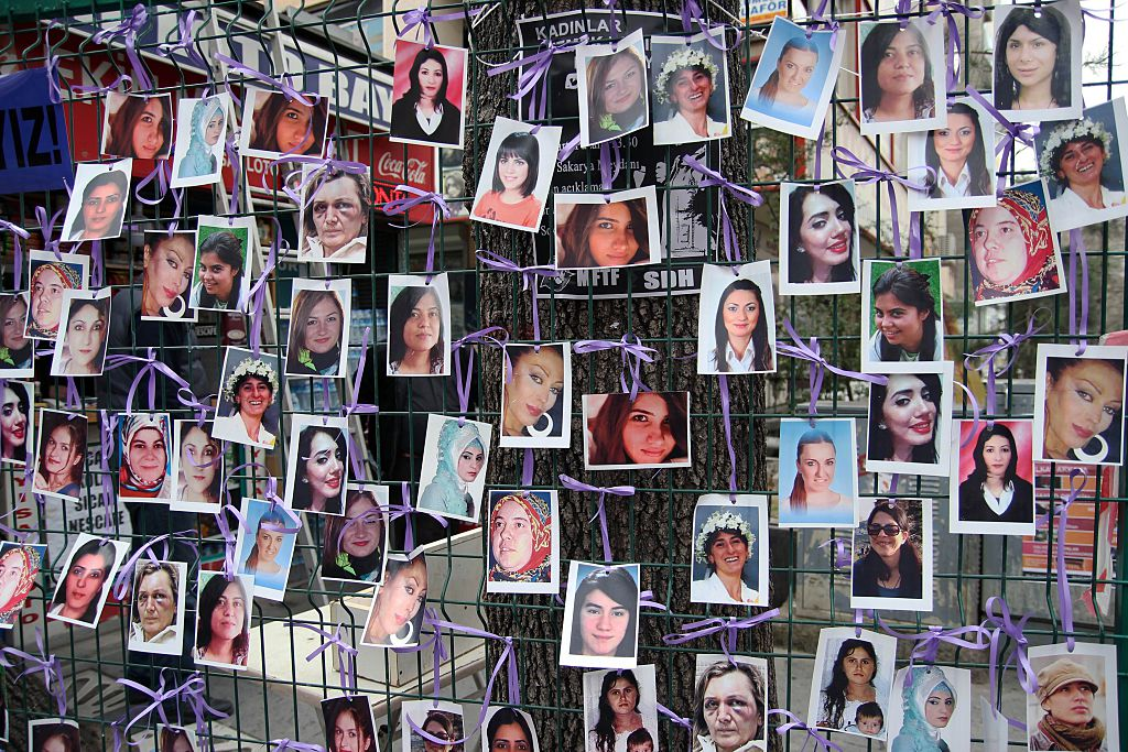 A display of domestic violence victims in Turkey