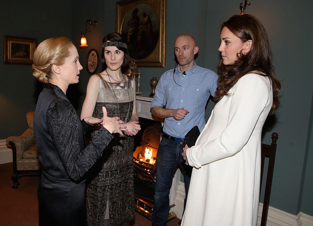 Kate Middleton and Downton Abbey actresses