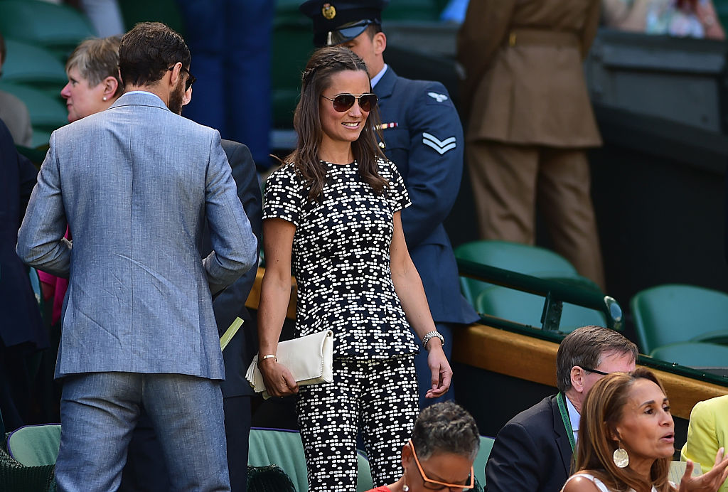 Pippa Middleton during day ten of the Wimbledon Lawn Tennis Championships at the All England Lawn Tennis and Croquet Club on July 9, 2015 in London, England.