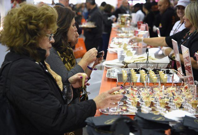 Samples at a food festival