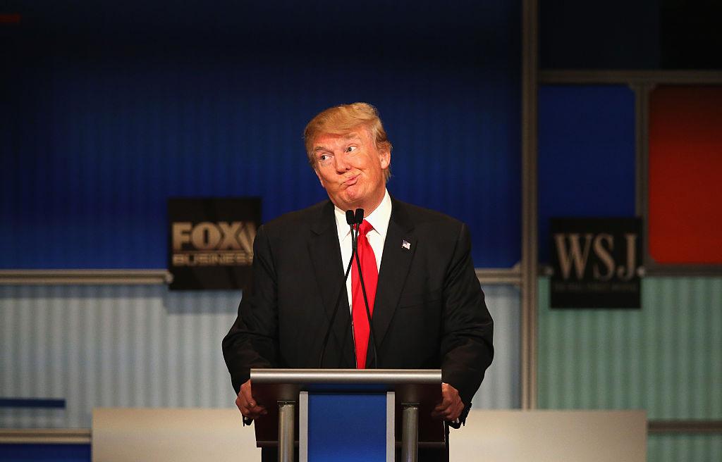 Donald Trump during debate