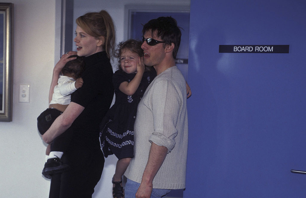 Nicole Kidman and Tom Cruise with their children Isabella and Connor in 1996.