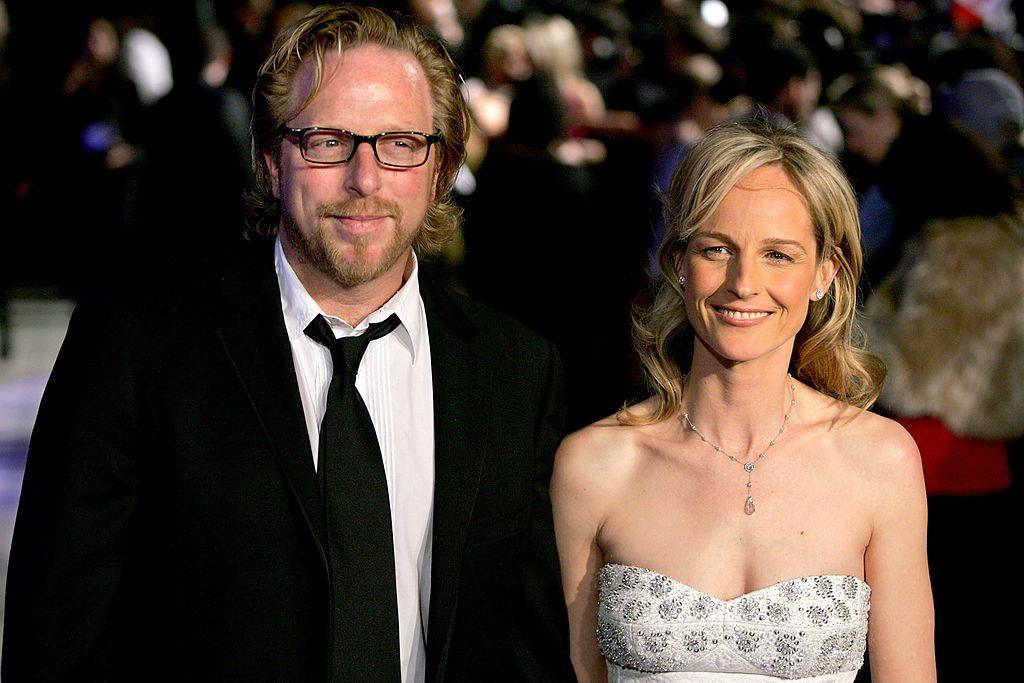 Actress Helen Hunt and Matthew Carnahan attend the Vanity Fair Oscar Party at Mortons on February 27, 2005 in West Hollywood, California.