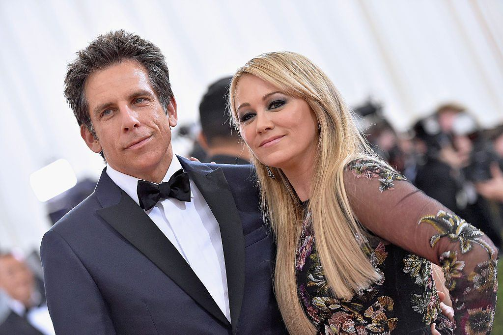 """Ben Stiller and Christine Taylor attend the """"Manus x Machina: Fashion In An Age Of Technology"""" Costume Institute Gala at Metropolitan Museum of Art on May 2, 2016 in New York City."""