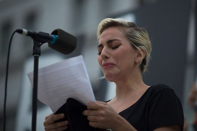 Lady Gaga reading statement
