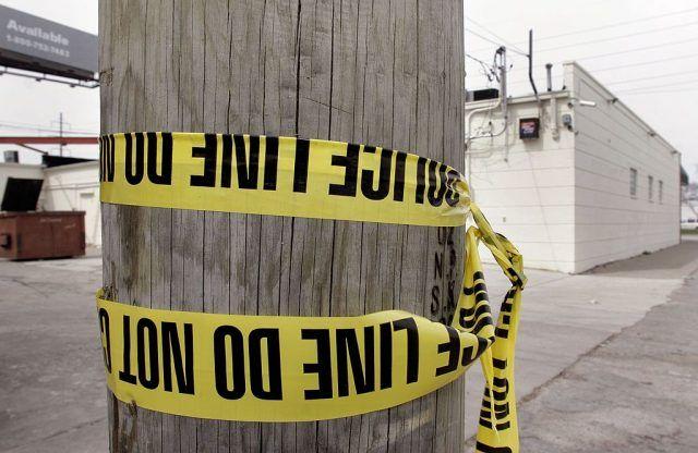 crime tape in Detroit