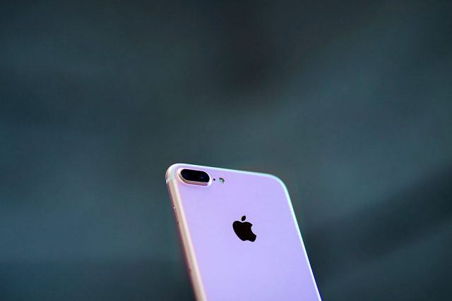An Iphone 7 Plus with its new dual camera is displayed at Puerta del Sol Apple Store the day the company launches their Iphone 7 and 7 Plus
