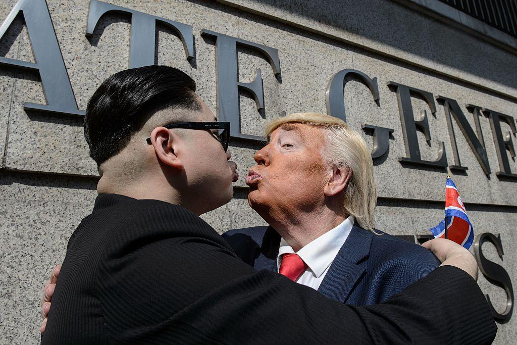 impersonators of Kim Jong Un and Donald Trump