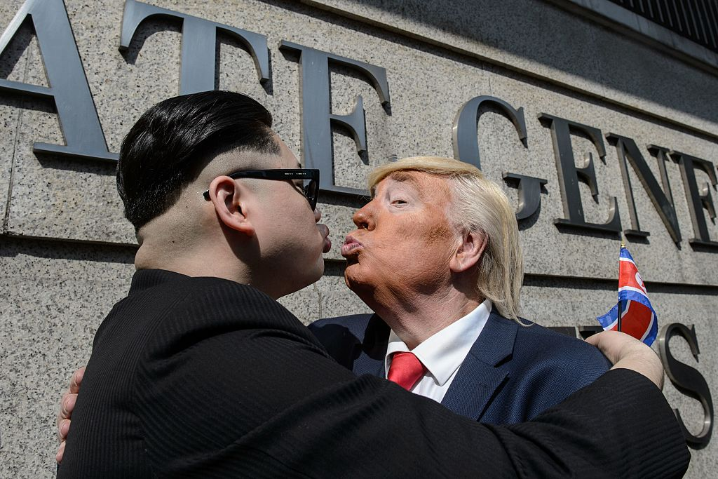 impersonators of Kim Jong Un and Donald Trump