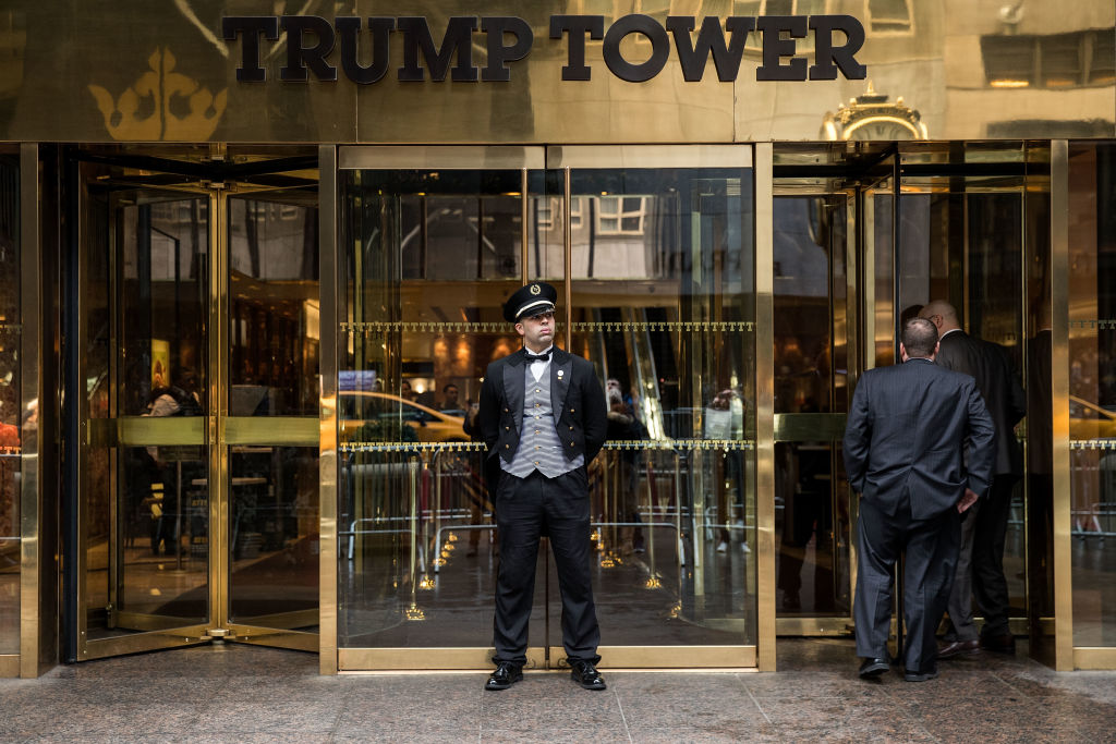 security in front of Trump tower