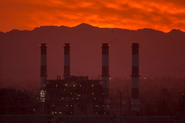 The gas-powered Valley Generating Station is seen in the San Fernando Valley