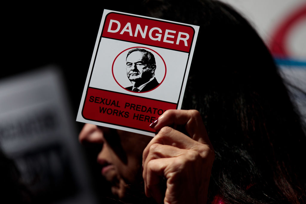 Bill O'Reilly protestors outside Fox
