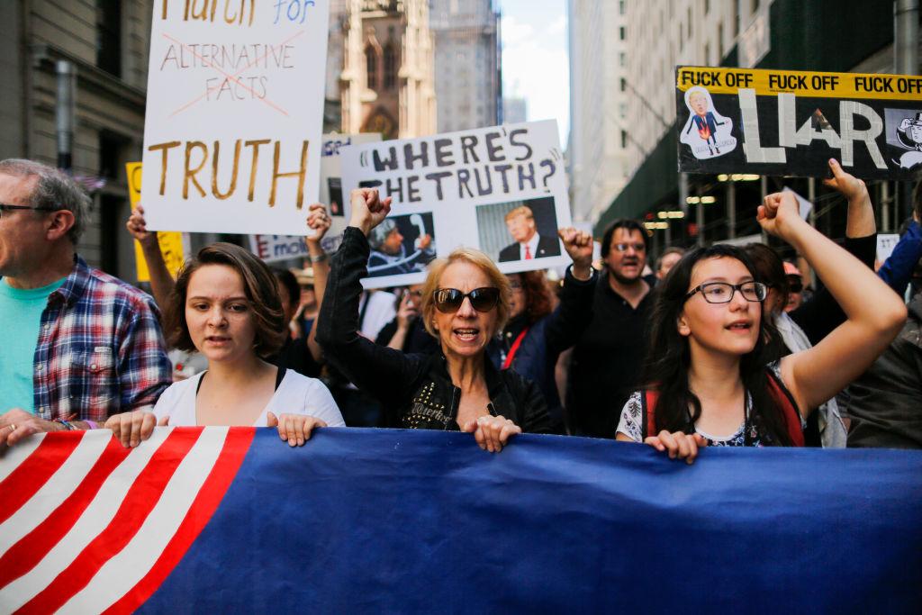March for Truth protestors