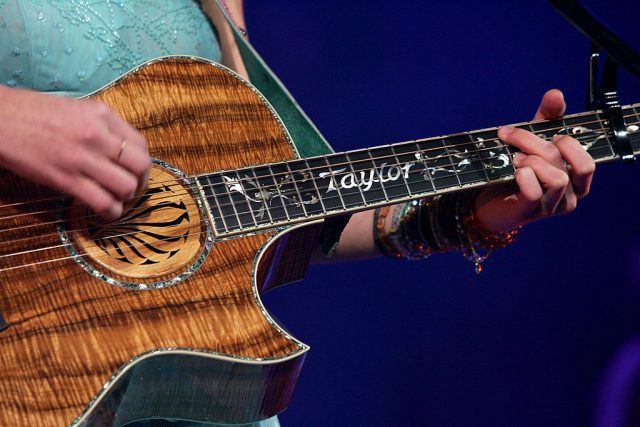 Taylor Swift guitar detail