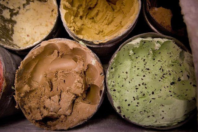 tubs of ice cream