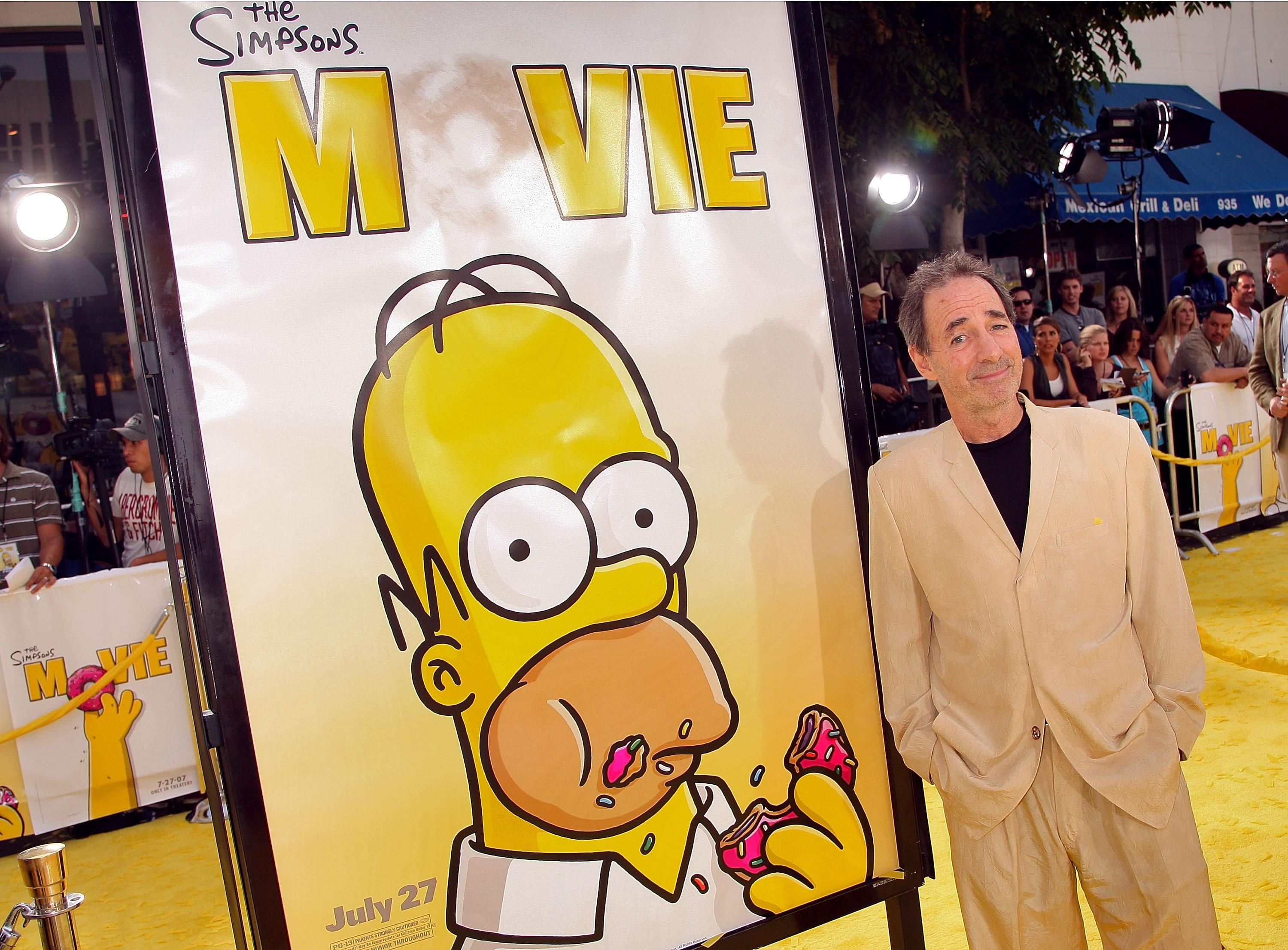 Harry Shearer promotes the Simpsons Movie on the red carpet