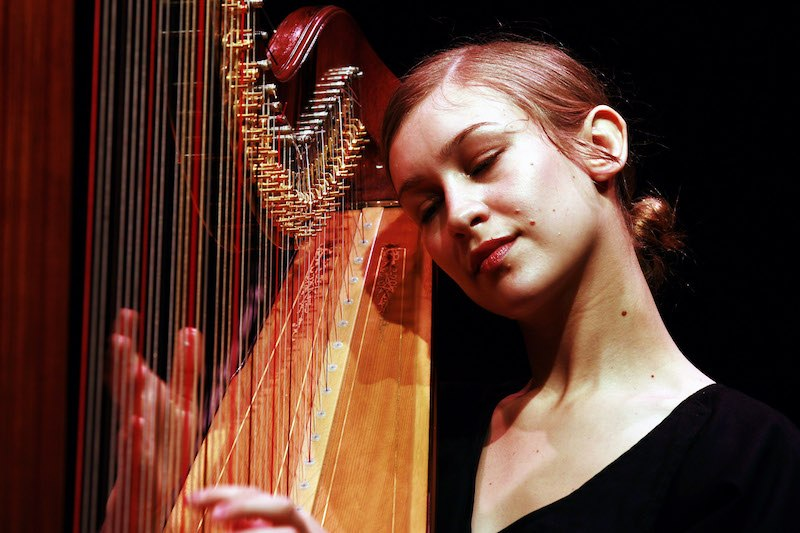 Joanna Newsom performs on stage at the Sydney Opera House